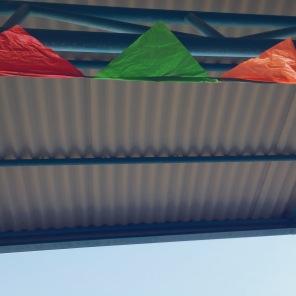 Flags from the International Fair